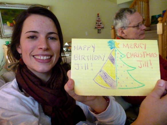 Super creative birthday/Christmas card from my friend Mitchie!!!
